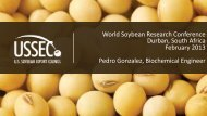 World Soybean Research Conference Durban, South Africa ...