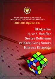 İlköğretim 4. ve 5. Sınıflar Seviye Belirleme ve Kolej Giriş Sınavı ...