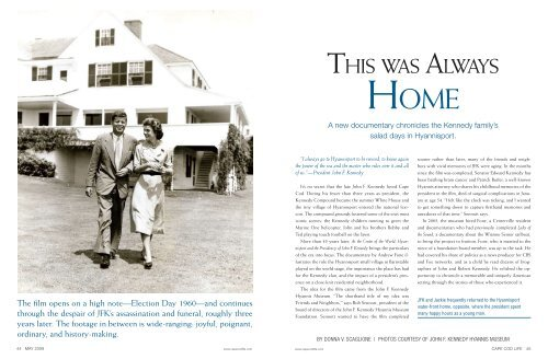 MAY09_PagesOfHistory - John F. Kennedy Hyannis Museum
