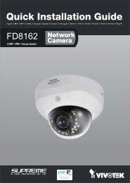 Vivotek FD8162 Quick Installation Guide - Use-IP