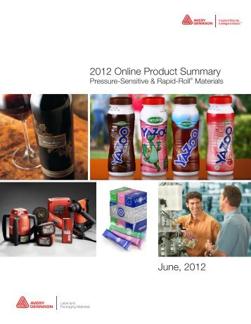 2012 Online Product Summary - Label and Packaging Materials ...