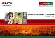 1572 KB - Lippo Malls Indonesia Retail Trust - Investor Relations