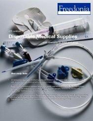 Disposable Medical Supplies - The Freedonia Group