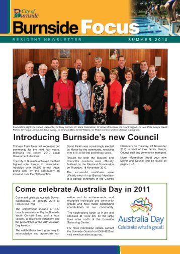 Introducing Burnside's new Council - City of Burnside - SA.Gov.au