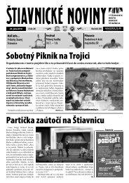Štiavnické noviny 26 - Banská Štiavnica