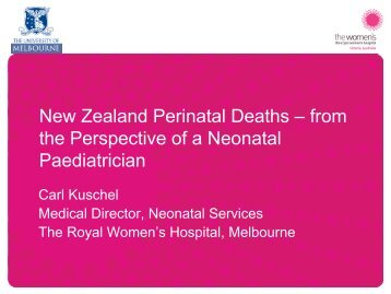 New Zealand Perinatal Deaths – from the Perspective ... - Hqsc.govt.nz