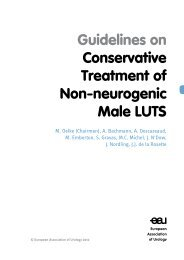 Guidelines on Conservative Treatment of Non-neurogenic Male LUTS