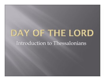 Introduction to Thessalonians