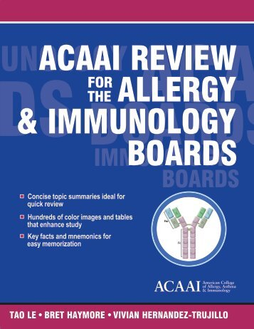 ACAAI Review for the Allergy and Immunology Boards - American ...