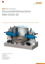 Karusselldrehmaschine IMO KD4S 40