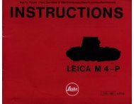 Leica M4-P instruction manual