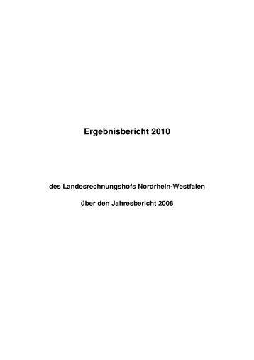 2010 - Landesrechnungshof des Landes Nordrhein-Westfalen (LRH ...