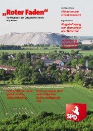 Roter Faden Ausgabe 05 2012 - SPD-Ortsverein Sehnde