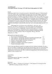 liste over publikasjoner og andre utvalgte skriftlige arbeider