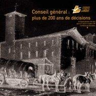 conseil general : plus de 200 ans de decisions - Conseil général ...