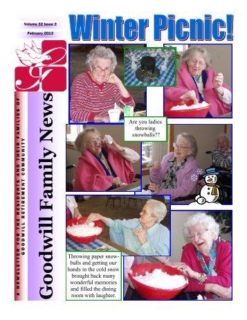 February, 2013 - Goodwill Retirement Community
