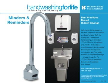 Minders & Reminders - Handwashing for Life Foodservice