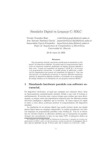 Simulador Digital en Lenguaje C: SDLC