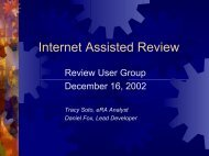 Internet Assisted Review - eRA