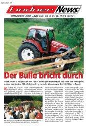 Der Bulle bricht durch - Lindner Traktoren
