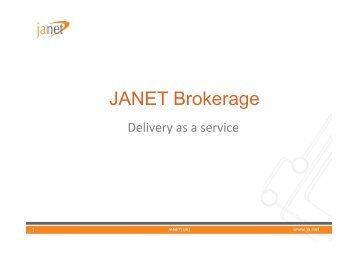 as a service - Janet