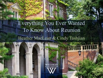 Everything You Ever Wanted To Know About ... - Wellesley College