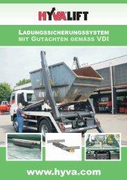 Ladungssicherung der Extraklasse: Hyva Ladungssicherungssystem