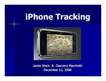 iPhone Tracking - MESL
