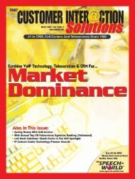 Customer Interaction Solutions March 2005 - TMC's Digital ...