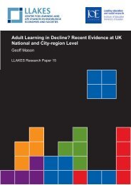 Adult Learning in Decline? Recent Evidence at UK National ... - llakes