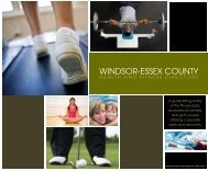 Health and Fitness Directory - Windsor Essex County Health Unit