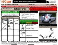 Installation Sheet - CURT Manufacturing