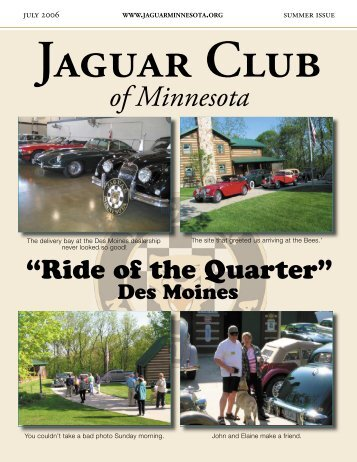 Summer Quarter Newsletter - July, 2006 - Jaguar Club of MN