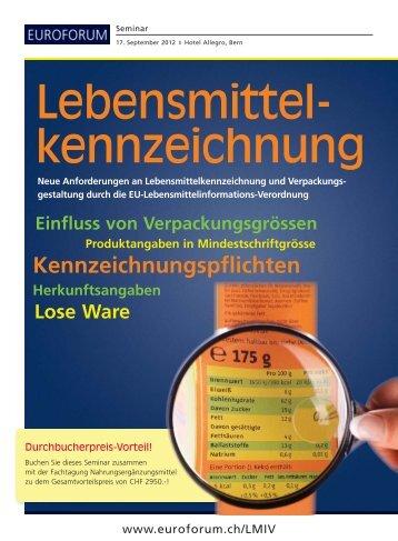 Lebensmittel- kennzeichnung - Zenk Rechtsanwälte