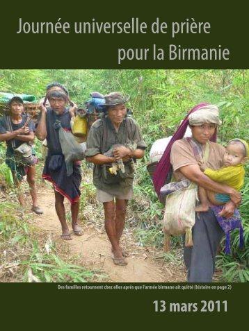 Journée universelle de prière pour la Birmanie - Christians ...