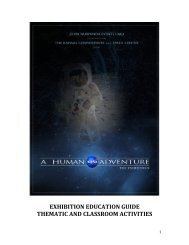 exhibition education guide thematic and ... - Tekniska museet