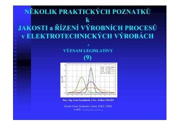 Přednáška 09 - UMEL - Vysoké učení technické v Brně