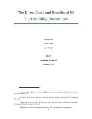 The Direct Costs and Benefits of US Electric Utility Divestitures