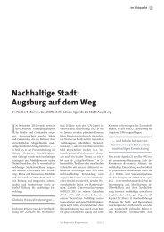 Nachhaltige Stadt: Augsburg auf dem Weg - Nachhaltigkeit - Stadt ...
