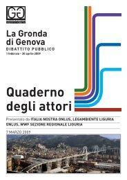Quaderno inviato da Italia Nostra, Legambiente e WWF - Urban Center