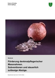 Förderung denkmalpflegerischer Massnahmen ... - Kanton St.Gallen