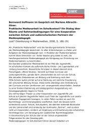 Bernward Hoffmann im Gespräch mit Marlene Albrecht- Illner - GMK
