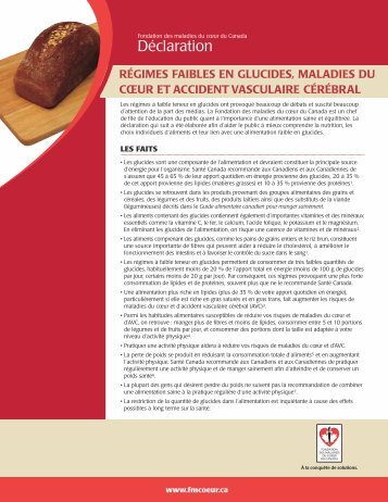 4pgCarbsFR.qxd (Page 1) - Fondation des maladies du coeur du ...