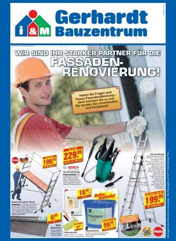 fassaden- renovierung! - Gerhardt Bauzentrum