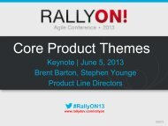 Core Product Themes - Rally Software