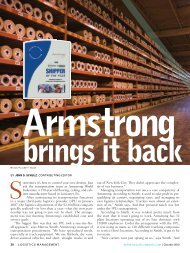 Armstrong - Logistics Management
