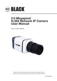 2.0 Megapixel H.264 Network IP Camera User ... - Supercircuits Inc.