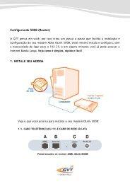 Configurando 500B (Router) 1. INSTALE SEU MODEM - GVT