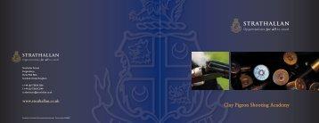 Clay Pigeon Shooting Academy - Strathallan School
