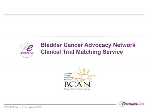Webinar Slides - Bladder Cancer Advocacy Network